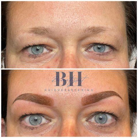 beautyvit huidverbetering permanente make up ombre powder brows wenkbrauwen